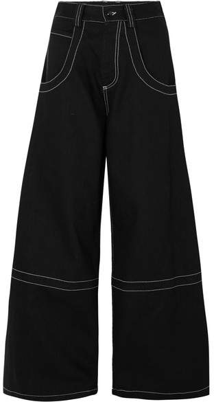 Maison Margiela High-rise Wide-leg Jeans - Black