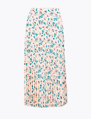 Marks and Spencer Floral Circle Pleated Midi Skirt