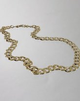 gold twisted chain link long necklace