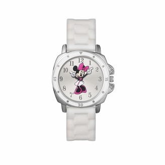 Disney Minnie Mouse Unisex Child Analogue Classic Quartz Watch with Rubber Strap MN1064
