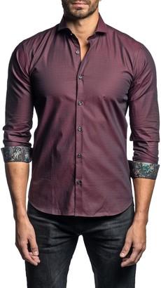 Jared Lang Paisley Print Cuff Long Sleeve Trim Fit Shirt