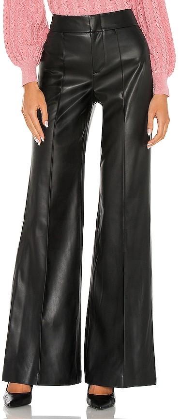 Alice + Olivia Dylan Vegan Leather High Waist Wide Leg Pant