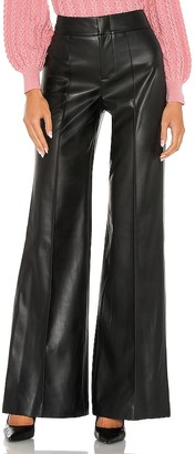Alice + Olivia Dylan Vegan Leather High Waist Wide Leg Pant