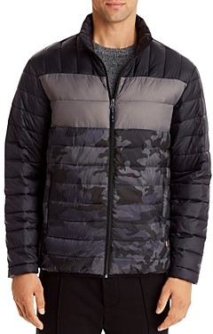 Hawke & Co Color-Block Packable Puffer Jacket