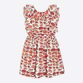 J.Crew Factory Girls' watermelon ruffle-back dress