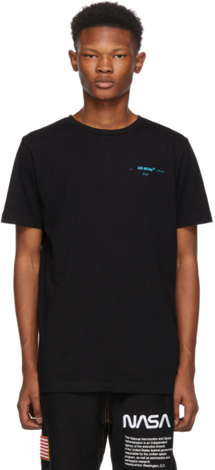 Off-White Off White Black Gradient Slim Fit T-Shirt