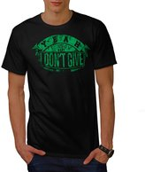 I Dont Give A Damn Slogan Men XXXL T-shirt | Wellcoda