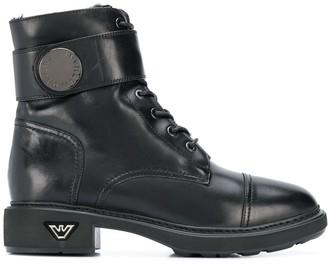 Emporio Armani Combat Boots