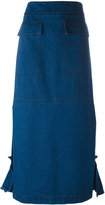 Marni straight skirt - women - Cotton - 42