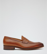 Reiss Cent LEATHER PENNY LOAFERS