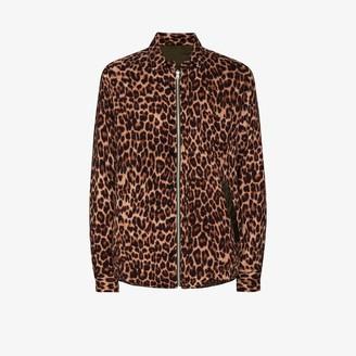 Sacai Leopard-Print Zip-Up Shirt
