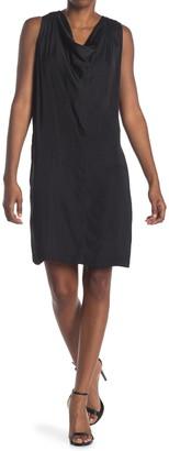 H Halston Cowl Neck Sleeveless Dress