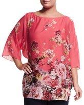 Marina Rinaldi Fresia Floral-Print Tunic, Plus Size