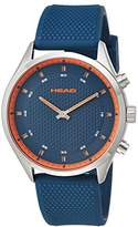 Head Men's 'Advantage' Quartz Stainless Steel and Silicone Casual Watch