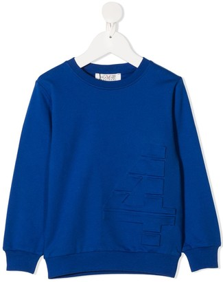 Cesare Paciotti 4us Kids 3D logo sweatshirt