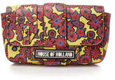 House of Holland Hot Dog Flower Print Yellow Shoulder Bag