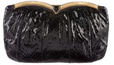 Judith Leiber Large Snakeskin Clutch
