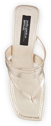 Pedro Garcia x Amlul Finisterre Metallic Wedge Thong Sandals