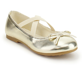 Jelly Beans Gold Cross-Strap Motor Flat