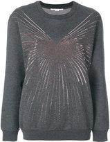 Stella McCartney embellished sweatshirt - women - Cotton/Polyamide - 38