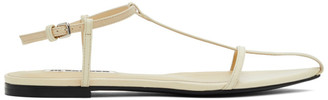 Jil Sander Yellow Pointy Toe Flat Sandals