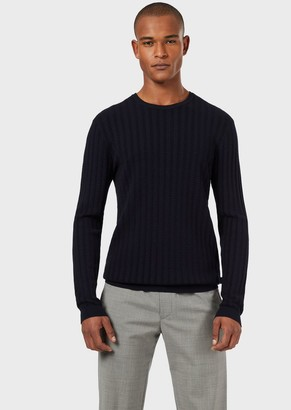 Emporio Armani Sweater With Knitted Stitch Pattern