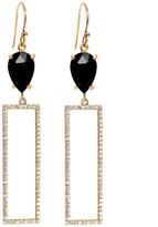 Rachael Ryen - Rectangle Pave Drop Earrings - Black Onyx