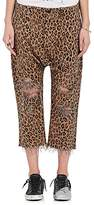 R 13 Women's Leopard-Print Cotton Utility Pants