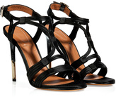 Givenchy Black Satin/Leather Sandals