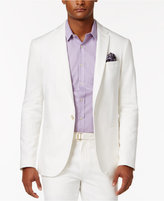 Sean John Men's Slim-Fit Cream Lightweight Linen Suit Jacket
