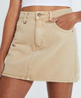 Neuw Darcy Denim Skirt Sandstorm