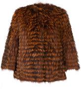 Yves Salomon collarless jacket - women - Fox Fur/Polyamide/Polyester/Viscose - 36