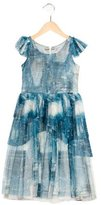 Junior Gaultier Girls' Jean Print Tulle Dress