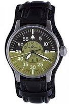 Fortis Men's 595.11.16 L.01 Flieger Cockpit Olive Self-Wind Black Stainless Steel Watch by