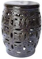 Benzara Graceful Ceramic Pierced Garden Stool