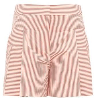 Palmer Harding Palmer//harding - Dana Cotton-poplin Shorts - Womens - Red White