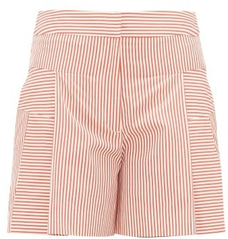 Palmer Harding Palmer//Harding Palmer//harding - Dana Cotton-poplin Shorts - Womens - Red White