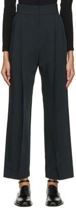 Low Classic Green Pintuck Trousers