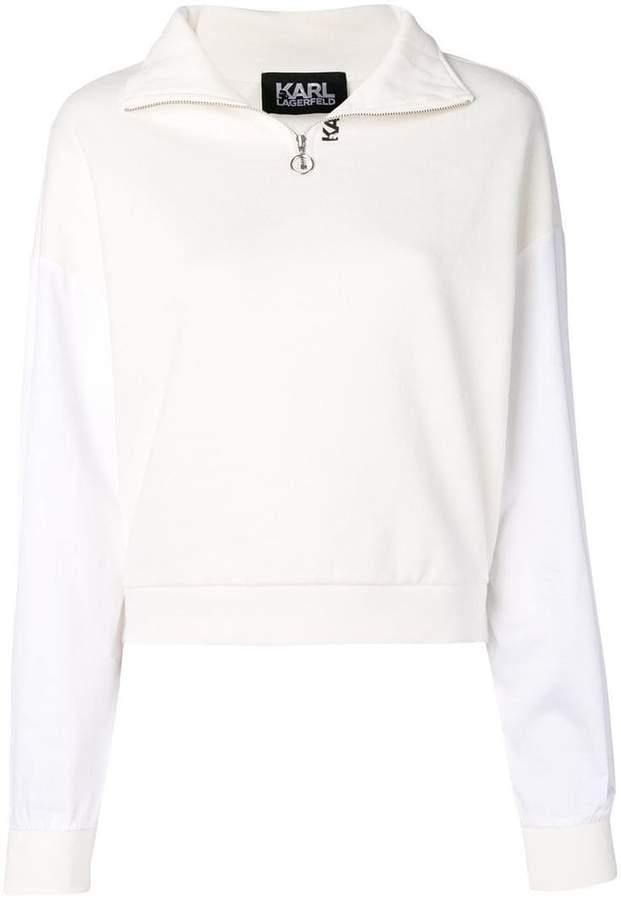 Karl Lagerfeld Paris zip neck sweatshirt