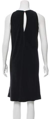 Rick Owens Shift Keyhole-Accented Dress
