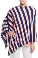 Minnie Rose Striped Cashmere Poncho
