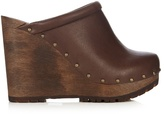 See by Chloe Clive leather wedge clogs