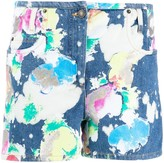 Moschino bleached painted shorts