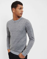 Ted Baker Geo design crew neck sweater