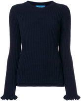 MiH Jeans ribbed frill sleeve sweater