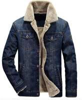 Mordenmiss Men's Long Sleeve Denim Jacket Coat With Front Pockets Navy M