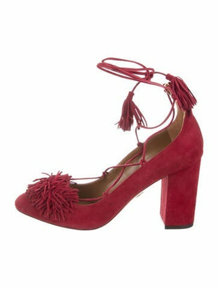 Aquazzura Wild 85 Suede Pump w/ Tags