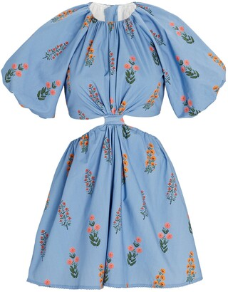 Agua Bendita Laurel Floral Cut-Out Mini Dress