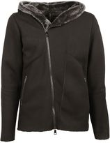 Giorgio Brato Dust Shearling Hooded Jacket