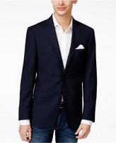 Calvin Klein Men's Slim-Fit Navy Box-Check Sport Coat